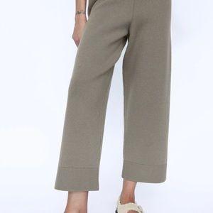 Zara high waisted knit pants
